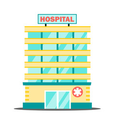 hospital building medical concept facade vector image