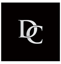 Initials with letter d and letter c logo vector