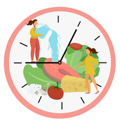 Intermittent fasting concept vector
