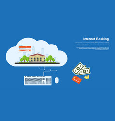 Internet banking banner vector