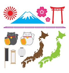 Japan symbol set vector