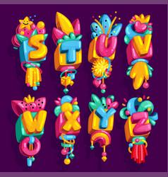 Kids font vector