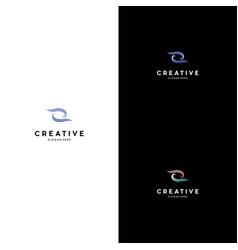 letter z and waves creative logo design vector image