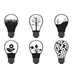 Light bulbs vector