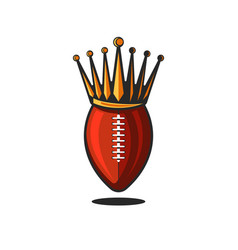 logo ball for american football or rugin the vector image