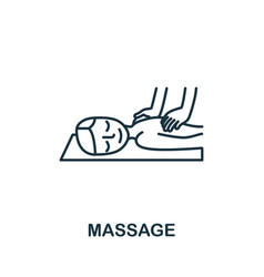 Massage icon from spa therapy collection simple vector