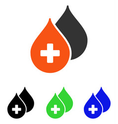 Medical drops flat icon vector
