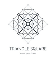 Modern stylish logo Design element with squares vector
