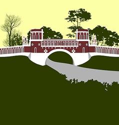 Moscow Tsaritsino palace Bridge vector