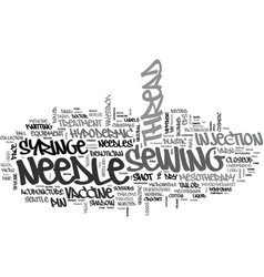 Needle word cloud concept vector