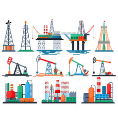 Oil industry oily products oiled technology vector