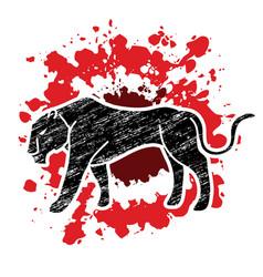 Panther tiger cartoon graphic vector