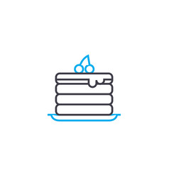 puff cake linear icon concept puff cake line vector image