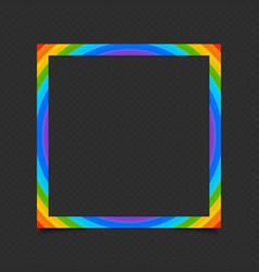 Rainbow photo frame vector