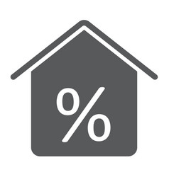 Real estate business glyph icon real estate vector