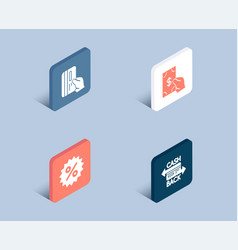 receive money discount and payment card icons vector image