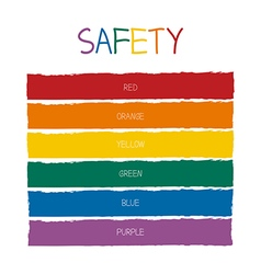 Safety Color Tone vector