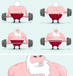 santa workout vector image