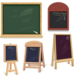 Set of menu boards vector