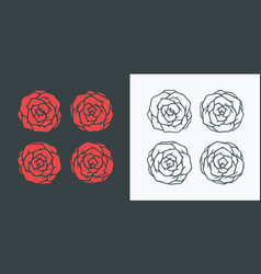 simple roses vector image