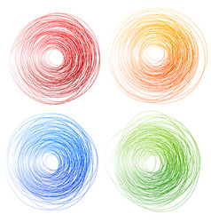 Sketchy freeform circles vector
