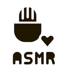 Sound in microphone asmr icon vector