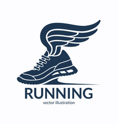 Speeding running shoe symbol icon logo vector