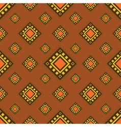 Tribal brown seamless pattern vector