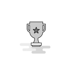 trophy web icon flat line filled gray icon vector image