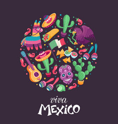 viva mexico poster vector image