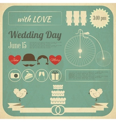 Wedding invitation infographics card vector