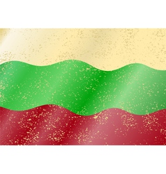Bulgarian grunge flag vector image vector image