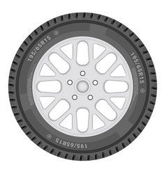 car wheel isolated on a white background vector image vector image