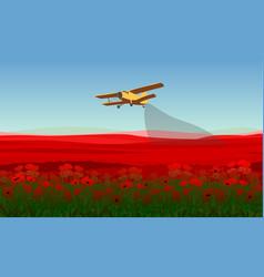 Natural field landscape template vector