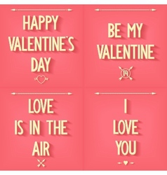 Set inscriptions for Valentines Day vector image