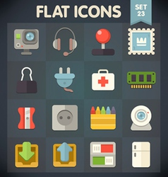 Universal flat icons set for applications 23 vector