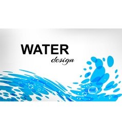 Water design splash wave on white background vector image vector image