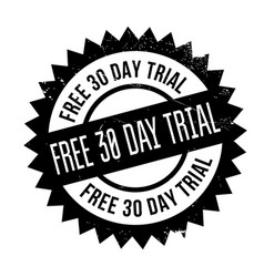 free 30 day trial rubber stamp vector image
