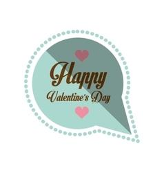happy valentines day card bubble hearts shadow vector image vector image