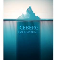 Iceberg background vector image vector image