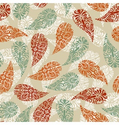 paisley vintage seamless floral pattern vector image vector image