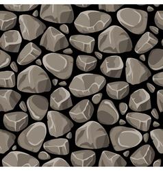 Rock Stone Seamless Pattern vector image