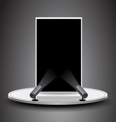 Spotlight lighting black board on stage vector image vector image