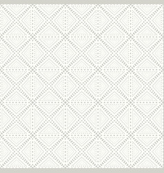 floral seamless geometric pattern vector image