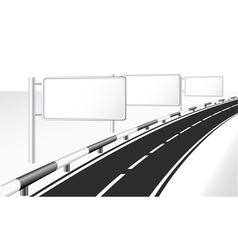 Highway and banner ads vector