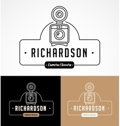 Photographer and photo studio element signatute vector image