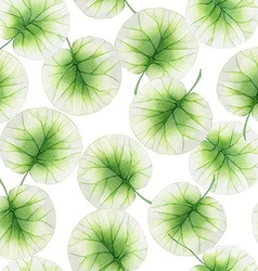 Watercolor Seamless floral pattern with lotus vector image