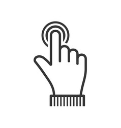 finger touch icon on white background vector image
