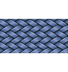 jeans weaving vector image vector image