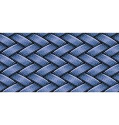 jeans weaving vector image